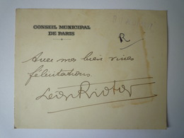 GP 2019 - 1188  DOC  Conseil Municipal De Paris  1927   XXX - Old Paper