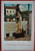 SPAIN - SEVILLA - TIPI ANDALUSI - ADVERTISING VINO DI SERRAVALLO TRIESTE - Sevilla