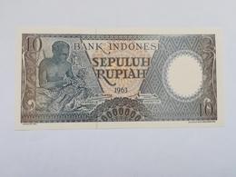 INDONESIA 10 RUPIAH 1963 - Indonesië