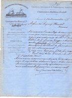 1 Factuur Antwerpen Lignes Régulières Par Steamers & Voiliers Shipping Insurance Gustave Van Wint & Cie C1878 - Belgium