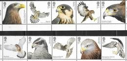 UK, 2019, MNH, BIRDS, BIRDS OF PREY, KITES, KESTRELS, FALCONS, HAWKS,EAGLES, BUZZARDS, 10v - Aigles & Rapaces Diurnes