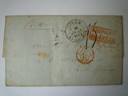 GP 2019 - 1190A  LETTRE Au Départ De MOULE  (Guadeloupe) à Destination De MAUBOURGUET  1853   XXX - Lettres & Documents