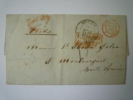 GP 2019 - 1190B  LETTRE Au Départ De MOULE  (Guadeloupe) à Destination De MAUBOURGUET  1853   XXX - Lettres & Documents