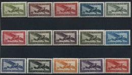 1942/44 Indocina, Posta Aerea, Serie Completa Nuova (*) Linguellata - Indocina (1889-1945)