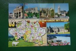 ALLIER CARTE DEPARTEMENTAL EDITIONS VALLOIRE REF 2058L CARTE NON 2CRITE - France