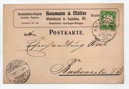 - Postkarte KNOERINGEN (Allemagne) Pour BUCHSWEILER (Bouxwiller / France) 11.10.1907 - A ETUDIER - - Germany