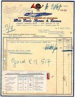 1 Factuur  Hamont Wasbleekerij Kaarsen En Wiekfabriek Huis Louis Spaas En Zonen  C1951 Tel.Hamont N°27 - 1950 - ...