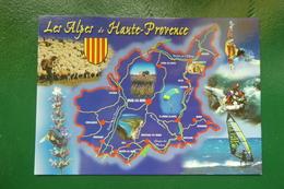 LES ALPES DE HAUTE PROVENCE (04) CARTE DEPARTEMENT EDITIONS PHOTOGUY REF AA765 NON ECRITE - France