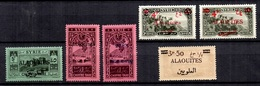 Alaouites Six Bonnes Valeurs Neufs **/* 1924/1925. B/TB. A Saisir! - Unused Stamps