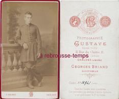 CDV Soldat Du 3e R-uniforme à Jupette-photo Georges Briand (ex Gustave) à Chalons Sur Marne - Guerre, Militaire