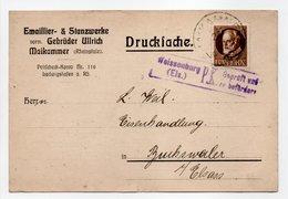 - Drucksache CENSURÉE MAIKAMMER (Allemagne) Pour BUCHSWEILER (Bouxwiller / France) 24.6.1916 - A ETUDIER - - Germany