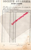 87- SAINT JUNIEN- BANQUE SOCIETE GENERALE 1920 - Bank & Insurance