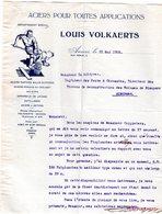 1 Factuur  Antwerpen Aciers Pour Toutes Applications Louis Volkaerts Verlatstraat C 1920 - 1950 - ...