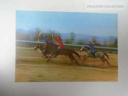 D163807 China Inner Mongolia - Traditional Sports - Horsemen -Archers -  Horses -Cheval - Festival  Ca 1970's - Mongolia