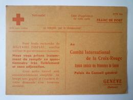 GP 2019 - 1194  Comité International De La CROIX-ROUGE  (Genève)  Carte Pour Recherche De Militaire Disparu   XXX - Old Paper