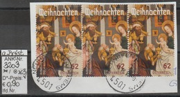 """28.11.2014 - SM """"Weihnachten 2014-Anbetung Der Drei Könige"""" - 3 X O Gestempelt Auf Briefstück - Siehe Scan (3203o X3) - 1945-.... 2. Republik"""