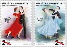 Turkey 2019, World Dances, MNH Stamps Pairs - 1921-... Republik