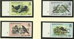 MONTSERRAT  1987  BIRDS  SET  'EDINGBURGH' OVERPRINT   MNH - Non Classés