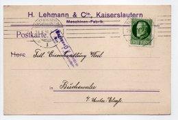 - Postkarte CENSURÉE KAISERSLAUTERN (Allemagne) Pour BUCHSWEILER (Bouxwiller / France) 24.5.1916 - A ETUDIER - - Germany