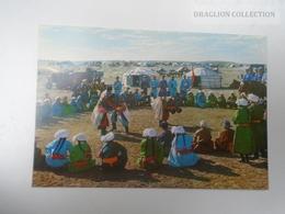 D163812  China Inner Mongolia - Traditional Sports  -Wrestlers Wrestling   - Festival  Ca 1970's - Mongolia
