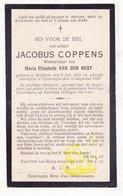 DP Jacobus Coppens ° Strijtem Roosdaal 1852 † Eizeringen Lennik 1919 X Maria E. Van Den Nest - Devotion Images