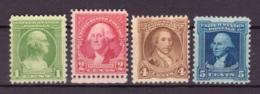 Etats Unis USA 1932 - MNH ** / MH* - Washington - Michel Nr. 335 337 339-340 (usa164) - Vereinigte Staaten