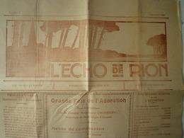 GP 2019 - 1196  L'ECHO De RIOM  Sept 1929   XXX - Old Paper