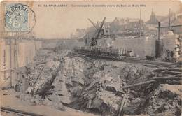 SAINT NAZAIRE - Les Travaux De La Nouvelle Entrée Du Port, En Mars 1904 - Saint Nazaire