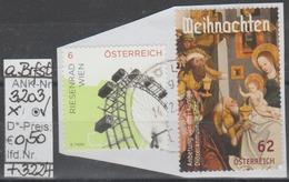 """28.11.2014 - SM """"Weihnachten 2014-Anbetung Der 3 Könige"""" - O Gestempelt A. Briefstück  - S. Scan (3203o ABs + 3224) - 1945-.... 2. Republik"""