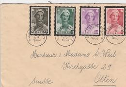 Belgique Jolie Lettre Pour La Suisse 1936 - Cartas