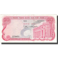 Billet, South Viet Nam, 20 D<ox>ng, Undated (1969), KM:24a, TTB - Vietnam