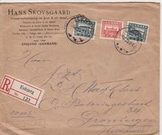 Danemark Lettre Recommandée Esbjerg Pour La Hollande 1920 - Covers & Documents