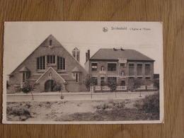 SINT IDESBALD ST-IDESBALD  SAINT-IDESBALD L' Eglise Et L'Ecole  België Belgique Carte Postale Postcard - Belgium