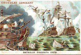 CHROMO  CHOCOLAT LOMBARD  BATAILLE D'AGOSTA 1676 - Lombart
