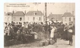 CPA Savigny-sur- Bray (41) Manoeuvre De Pompe Place Du Champ De Foire - France