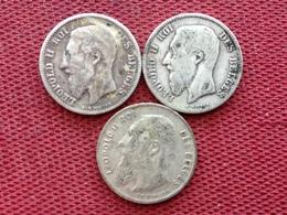 BELGIQUE Lot De 3 Monnaies De 1/2 Francs Argent - 1865-1909: Leopold II