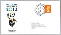 WELCOME TO LONDON 2012 - Inicio De Los Juegos Olimpicos. Cronometro - Chronometer. Stratford 2012 - Summer 2012: London