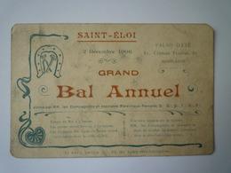 GP 2019 - 1202  COMPAGNONS Maréchaux Ferrants  -  SAINT-ELOI  -  Grand BAL Annuel  1906  XXX - Unclassified