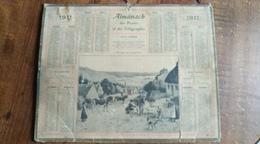 Calendrier Des Postes Et Des Télégraphes 1911 -  Village De Pêcheurs - Calendars