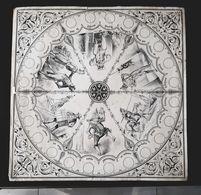 ANCIEN JEU MIMES 19èm GRANDE PLANCHE LITHOGRAPHIE ANTIQUE BOARD GAME MIME ARLEQUIN POLICHINELLE QUICHOTTE ROBERT MACAIRE - Autres