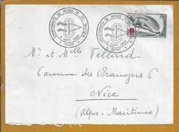 Obliteration And Stamp Of The 8th World Vichy Nautical Ski Championship 1963. Weltweiter Wasserski. Nautische Ski. Rare - Water-skiing