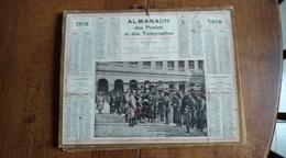 Calendrier Des Postes Et Des Télégraphes 1918 -  Remis De Diplomes - Calendars