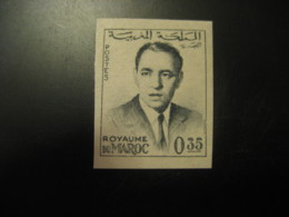 Royaume Du Maroc 0,35 King Imperforated Stamp Proof MOROCCO - Morocco (1956-...)