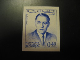 Royaume Du Maroc 0,40 King Imperforated Stamp Proof MOROCCO - Morocco (1956-...)