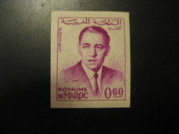 Royaume Du Maroc 0,60 King Imperforated Stamp Proof MOROCCO - Morocco (1956-...)