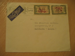 CASABLANCA 1956 To Barcelona Spain 2 Stamp On Cancel Air Mail Cover MOROCCO - Morocco (1956-...)