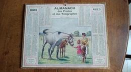 Calendrier Des Postes Et Des Télégraphes 1923 - Visite A La Poulinière - Calendars