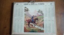 Calendrier Des Postes Et Des Télégraphes 1924 - Passage Du Ruisseau - Calendars