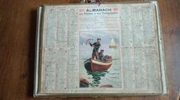 Calendrier Des Postes Et Des Télégraphes 1927 - Retour De Pêche - Calendars