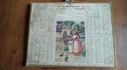 Calendrier Des Postes Et Des Télégraphes 1929 - Le Repas Des Canards - Calendars